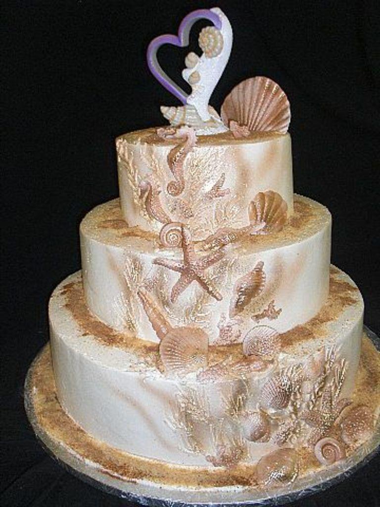 Wedding Cake Sea Theme