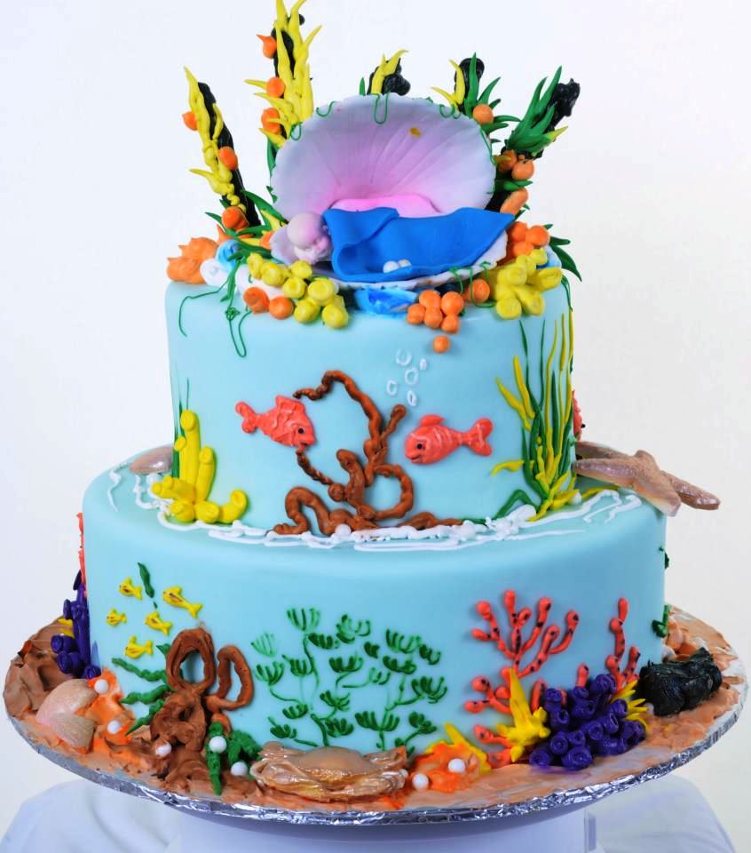 Tropical Fish Cake Toppers