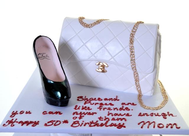 Pastry Palace Las Vegas Cake #1361-Handbag and Heel