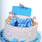 Pastry Palace Las Vegas - Baby Shower Cake #1252 - Noah's Ark