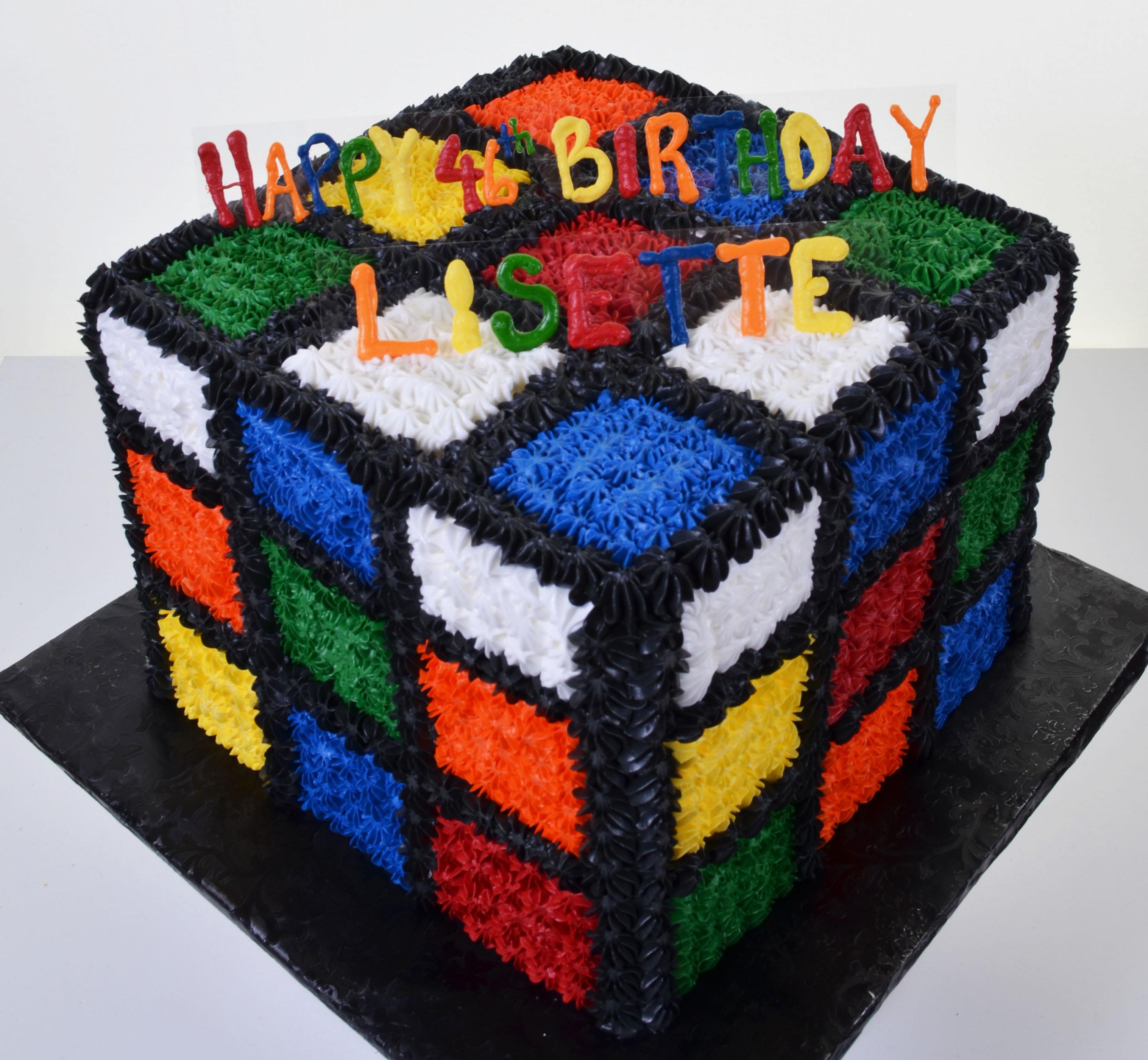 Cube World Chocolate Cake