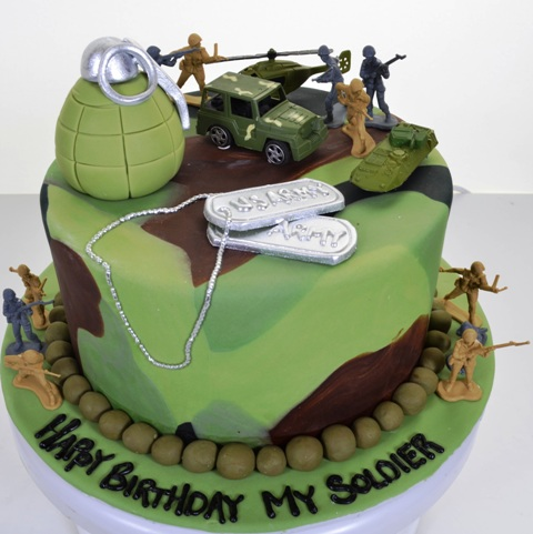 Soldier Cake Decorations
