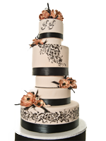 Custom Las Vegas Wedding Cake