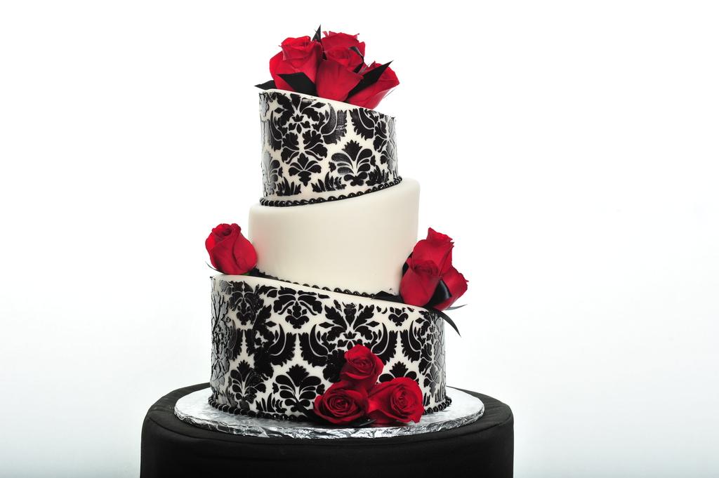 Pastry Palace Las Vegas - Wedding Cake #3-Damask Pattern