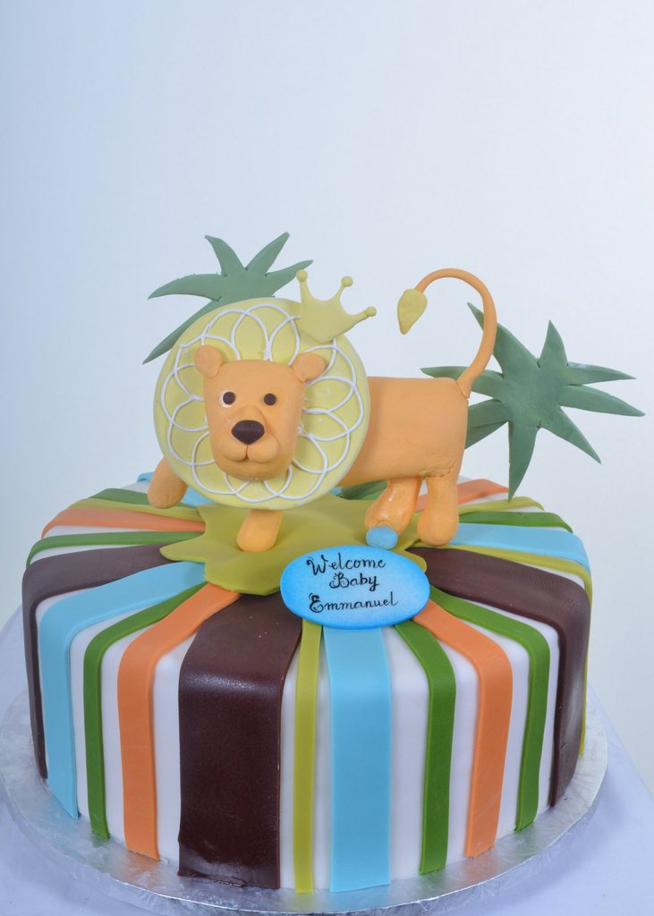 welcome-baby-with-lion theme shower