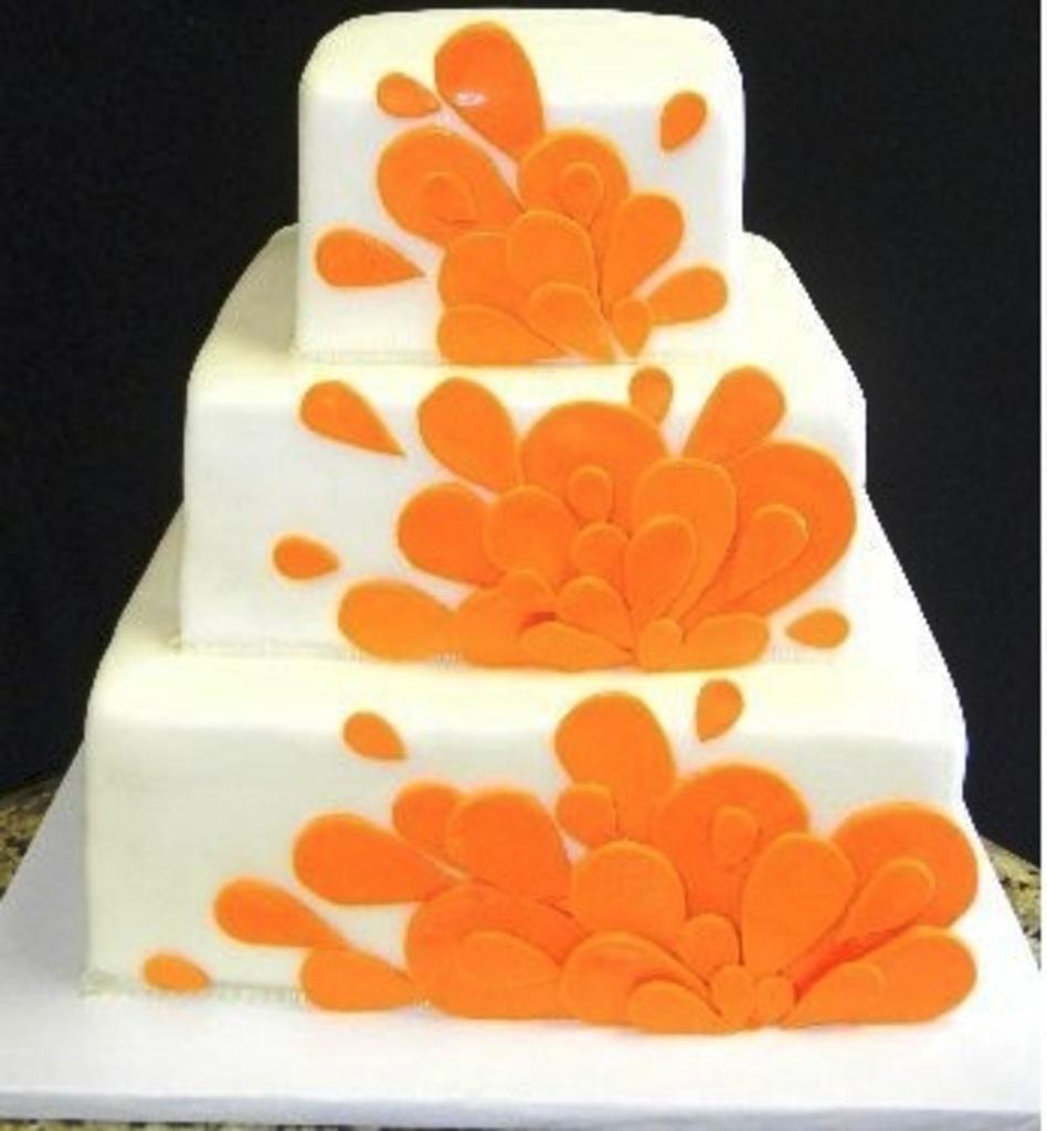 Pastry Palace Las Vegas - Wedding Cake 531 - Orange Splash