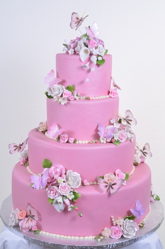 Pink wedding cakes wedding cakes fresh bakery pastry - Bj s wholesale club garden city ny ...