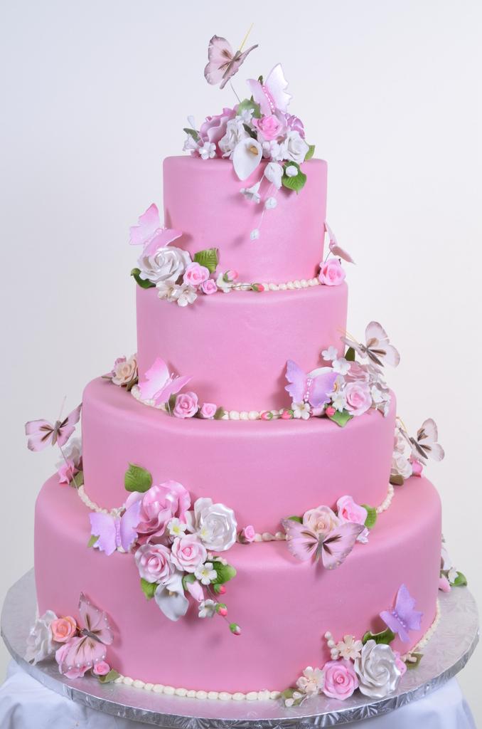 Pastry Palace Las Vegas Cake #553 - Pink Garden