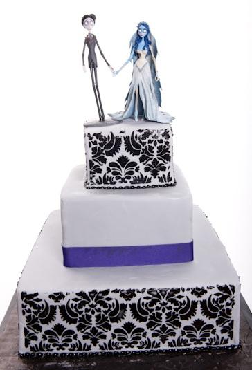 Pastry Palace Las Vegas - Cake #577 - Black and White Damask