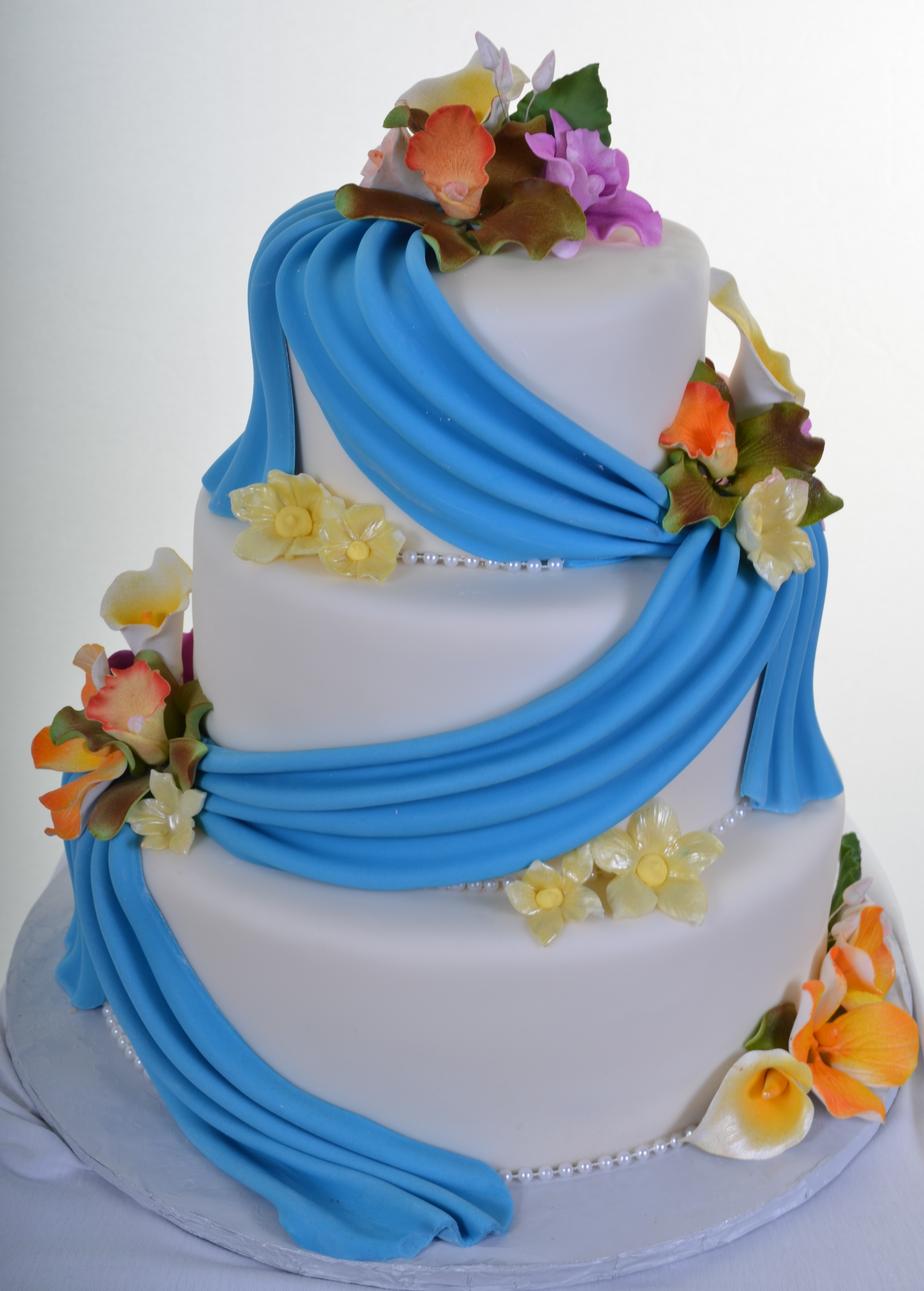 Pastry Palace Las Vegas - Wedding Cake 793 - Color Me Vibrant