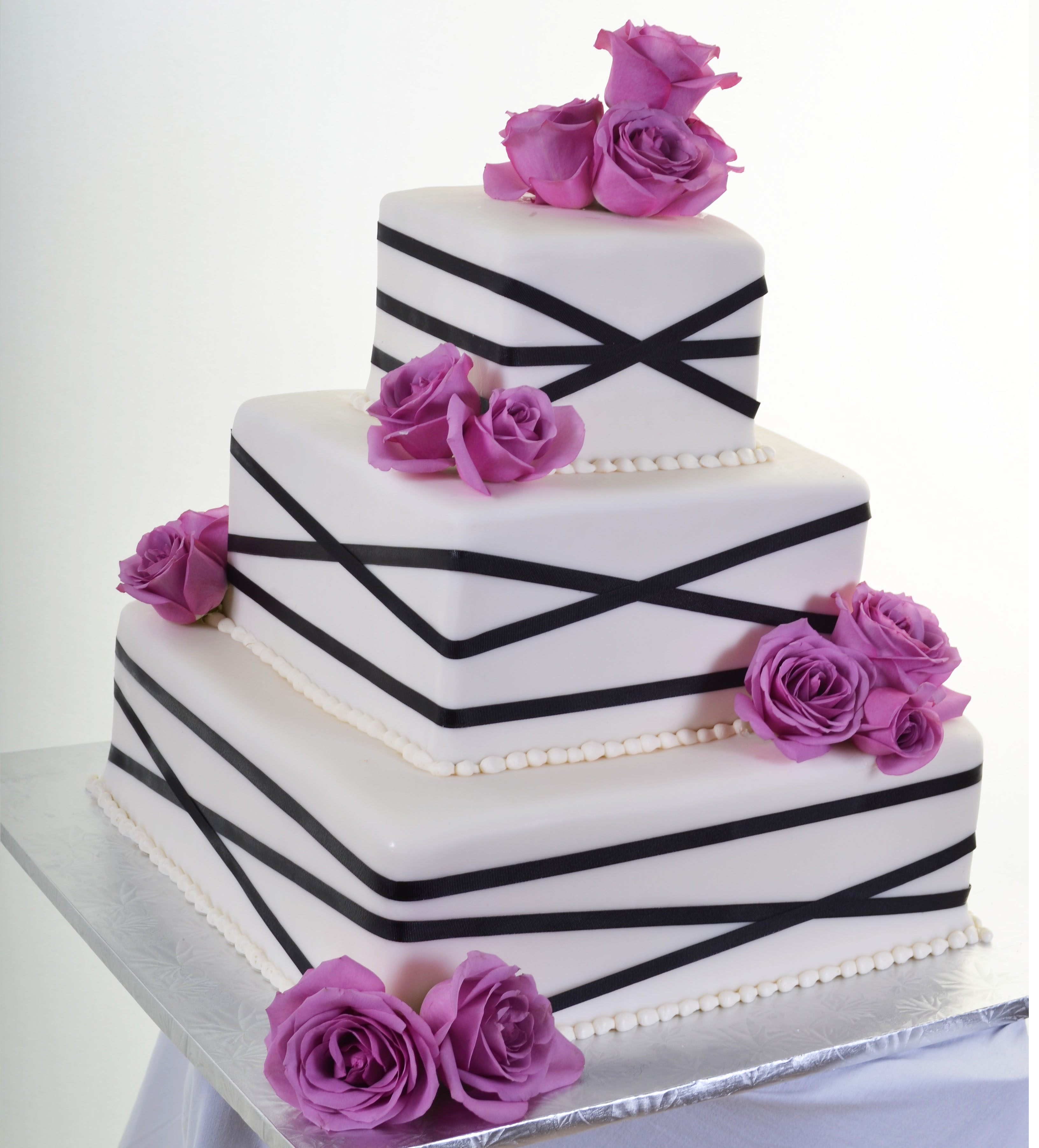 Pastry Palace Las Vegas - Wedding Cake 808 - Squares of Abstract