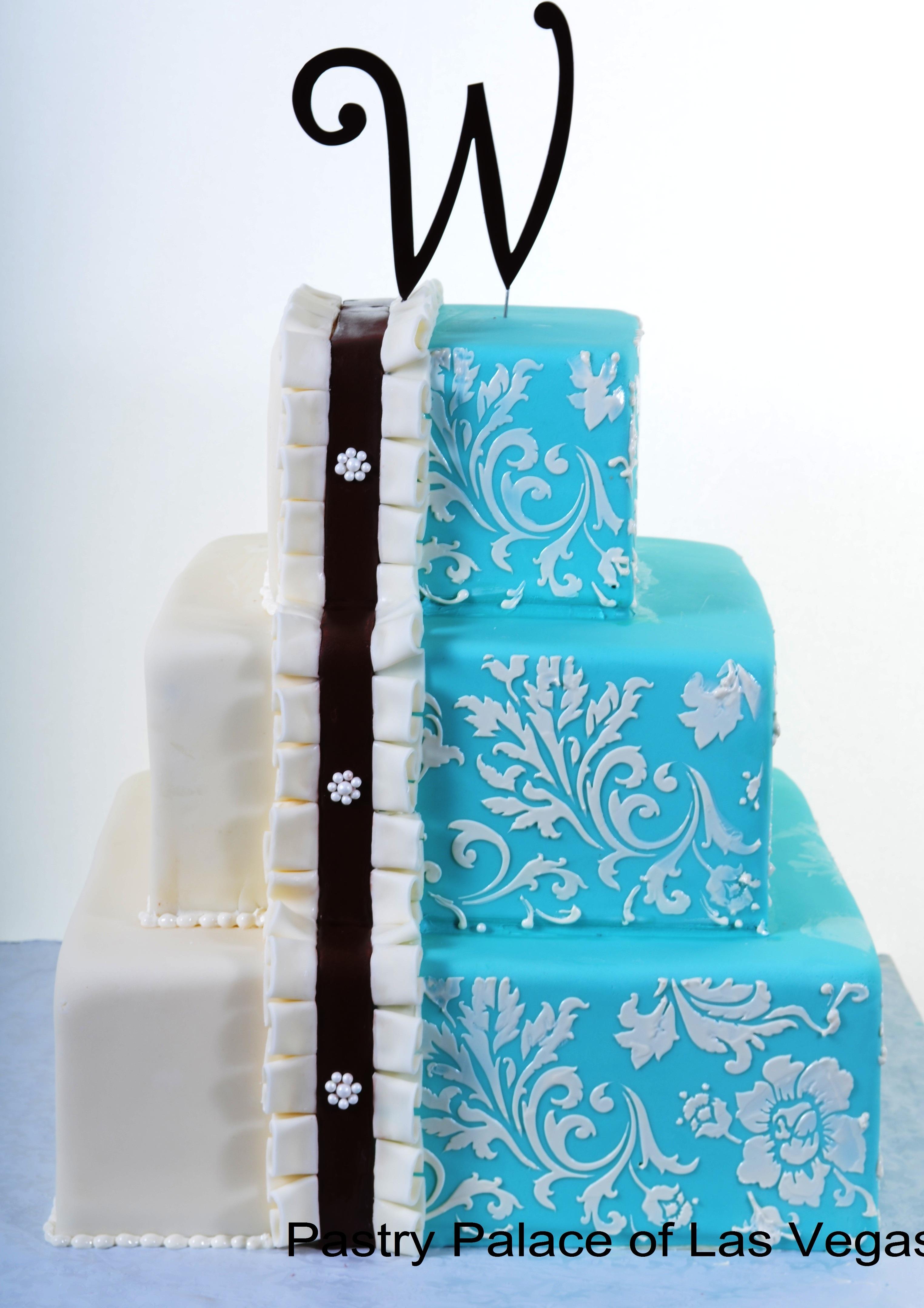 Pastry Palace Las Vegas - Wedding Cake 915 - Split Tiffany