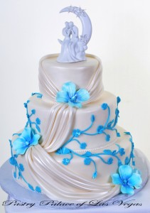 Pastry Palace Las Vegas - Wedding Cake 916 - Drapes and Vines