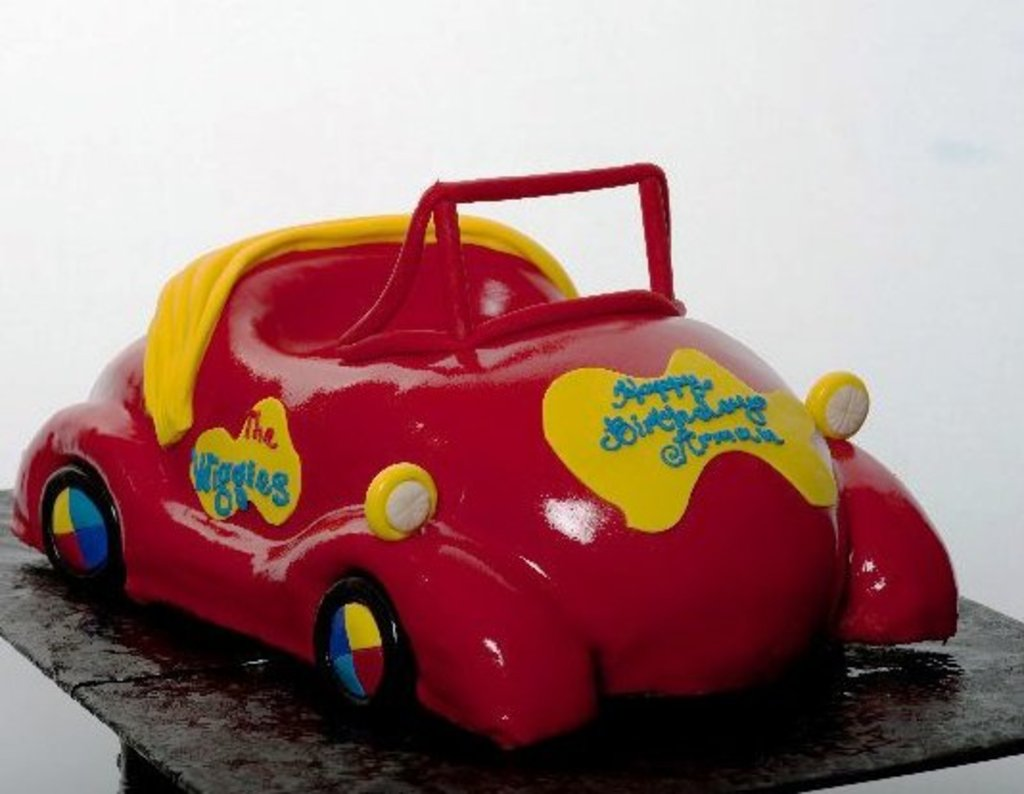 Pastry Palace Las Vegas Kids Cake 296 - Big Red Car The Wiggles