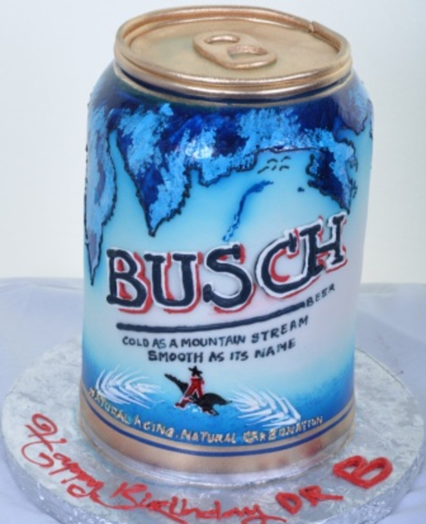 Surprising Busch Beer Can Cake By Pastry Palace 722 Wedding Cakes Fresh Funny Birthday Cards Online Alyptdamsfinfo