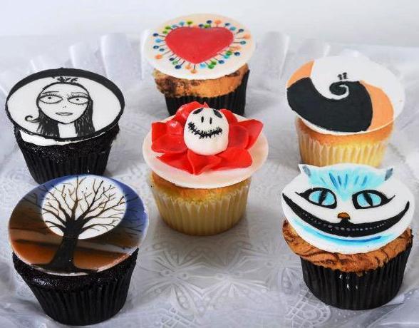 Pastry Palace Las Vegas Cupcakes #963 - Tim Burton's Nightmare