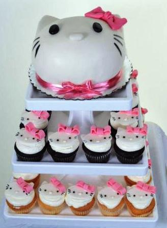 965 Hello Kitty Cupcakes Wedding Cakes Fresh Bakery Pastry