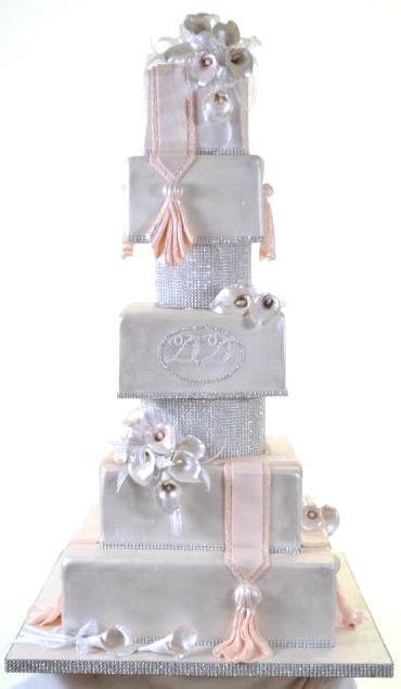 Pastry Palace Las Vegas - Wedding Cake #1014 - Sparkling Tower