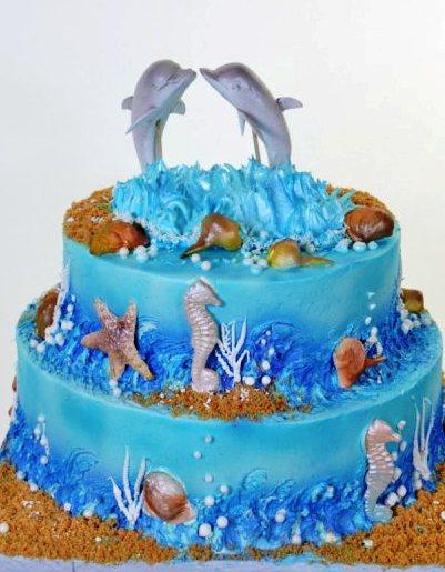 Pastry Palace Las Vegas - Wedding Cake 1034 - Dolphin Love