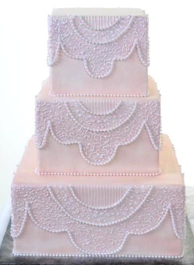 Pastry Palace Las Vegas Wedding Cake 1047-Finely Filigreed