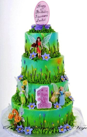 Pastry Palace Las Vegas Kids Cake 1050 - Fit for a Fairy Princess