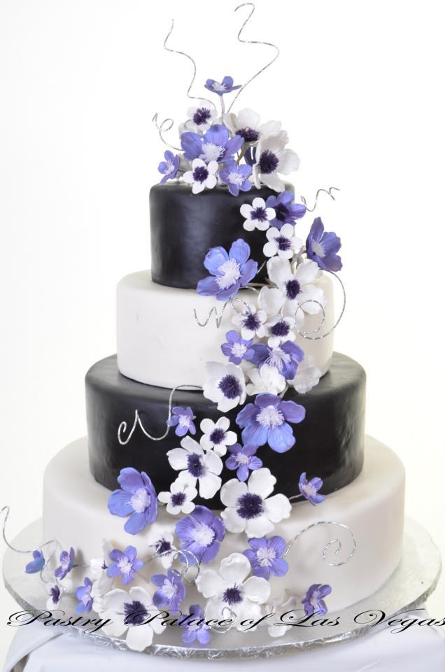 Trio of Colors - Wedding Cake #1058