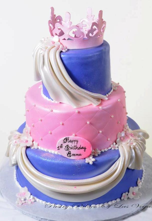 Pastry Palace Las Vegas Kids Cake 1071 Princess Crown & Pearls