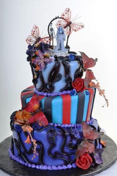Pastry Palace Las Vegas - Wedding Cake 1108 - Butterflies & Burton