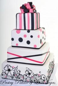 Pastry Palace Wedding Cake #1110