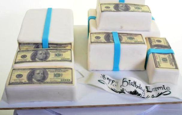 Pastry Palace Las Vegas - Cake 1124 - Money Money Money