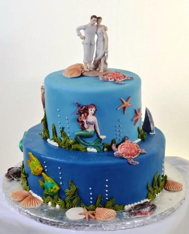 Pastry Palace Las Vegas - Wedding Cake 1125 - Deep Ocean