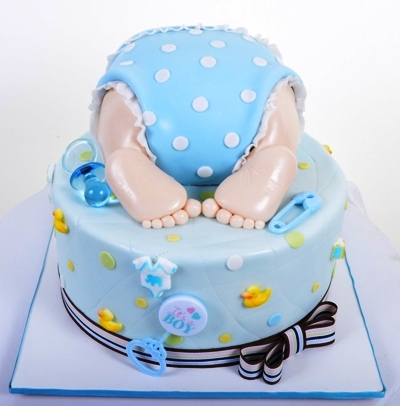 Pastry Palace Las Vegas - Baby Shower Cake #1134 - Toes & Tushie
