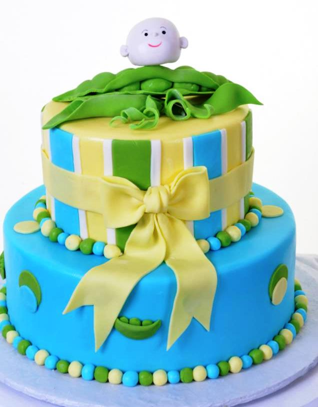 Pastry Palace Las Vegas - Sweet Pea Baby - Baby Shower Cake #1201