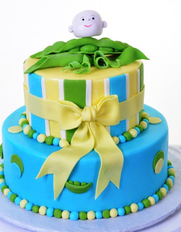 Pastry Palace Las Vegas - Sweet Pea Baby - Baby Shower Cake #1201
