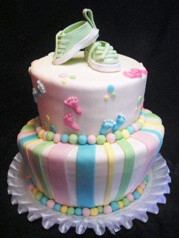 Pastry Palace Las Vegas - Baby Shower Cake #1223 - Tiny Sneakers