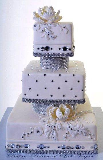 Pastry Palace Las Vegas Wedding Cake #1227 - Crystal Tower