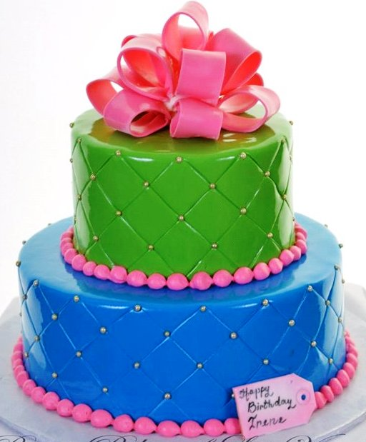 Pastry Palace Las Vegas - Wedding Cake 1231 - Brightly Quilted
