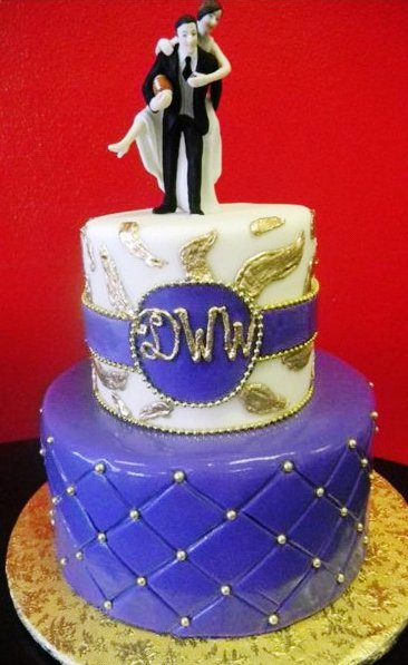 1247 – Purple & Gold Wedding – Wedding Cakes | Fresh Bakery | Pastry ...