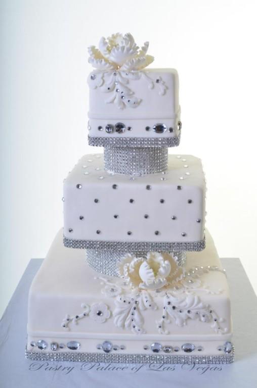 Pastry Palace Las Vegas Wedding Cake Bling