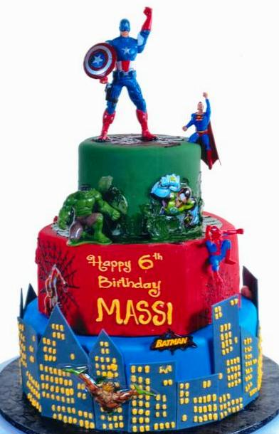Pastry Palace Las Vegas Kids Cake 1257 - Calling All Super Heroes
