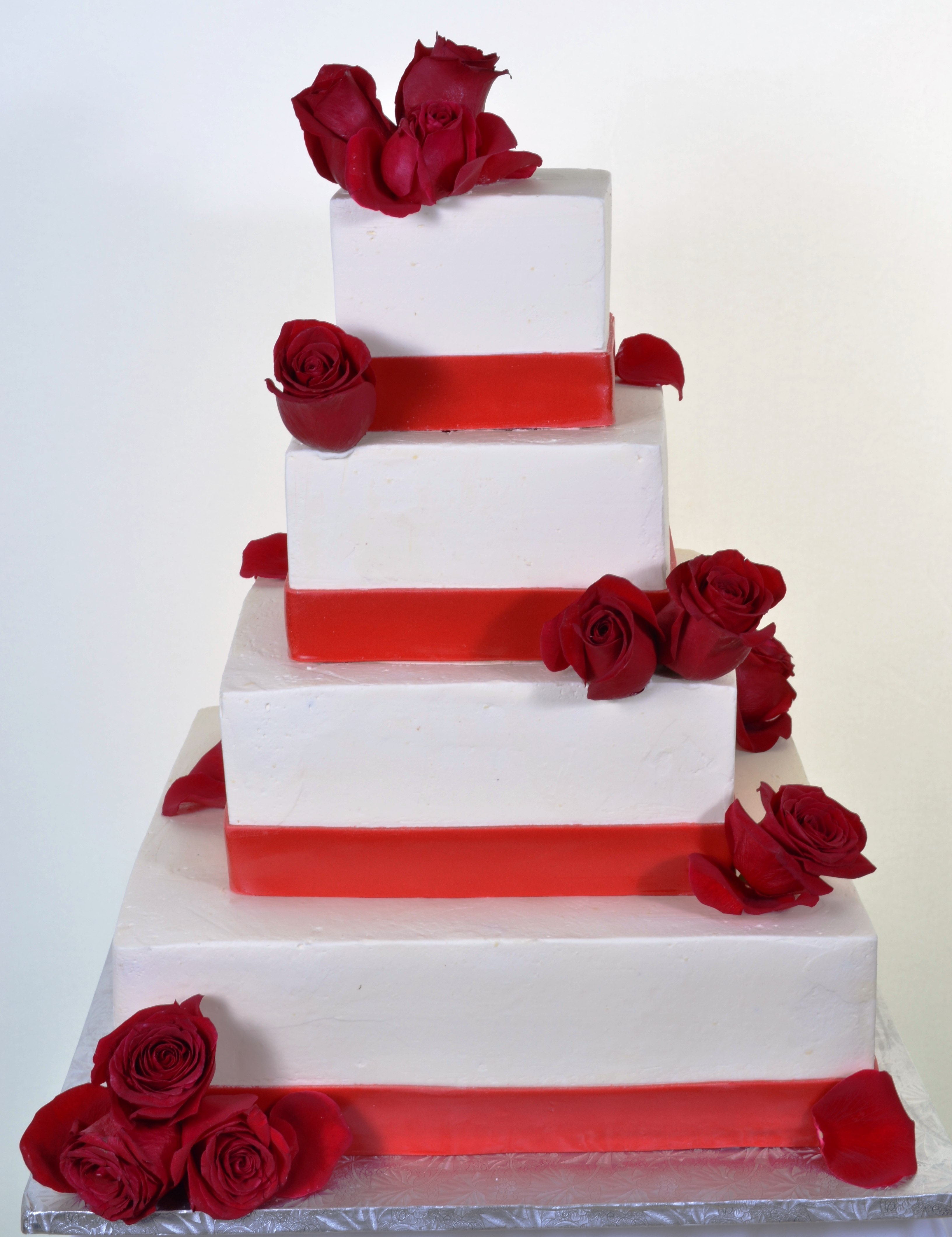 Pastry Palace Wedding Cake #912 - Red Squares