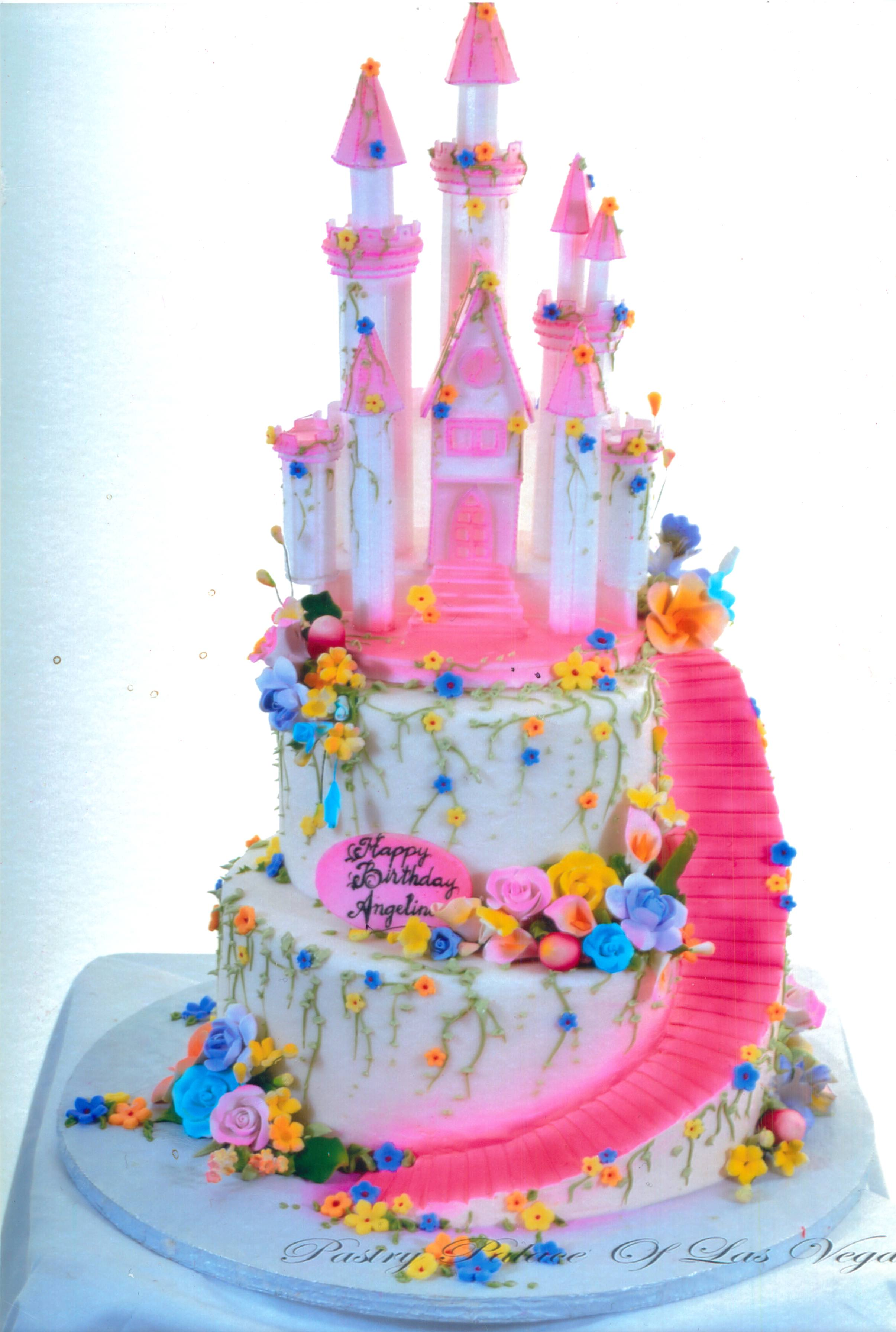 Cool Pastry Palace Las Vegas Birthday Cake 1278 Pink Castle Wedding Funny Birthday Cards Online Sheoxdamsfinfo