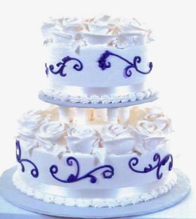 Pastry Palace Las Vegas - Cake 1279 - Scrolls & Roses