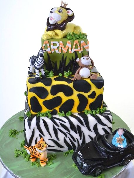 Pastry Palace Las Vegas - Baby Shower Cake 1289 - Jungle Baby