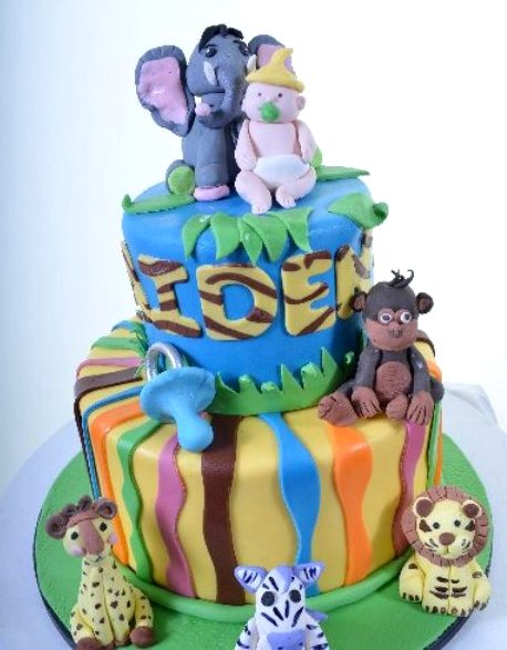 Pastry Palace Las Vegas - Baby Shower Cake 1293 - Baby Jungle Friends