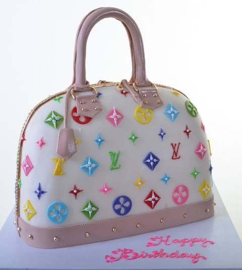 Pastry Palace Las Vegas Cake #1302-Louis Vuitton Beverly