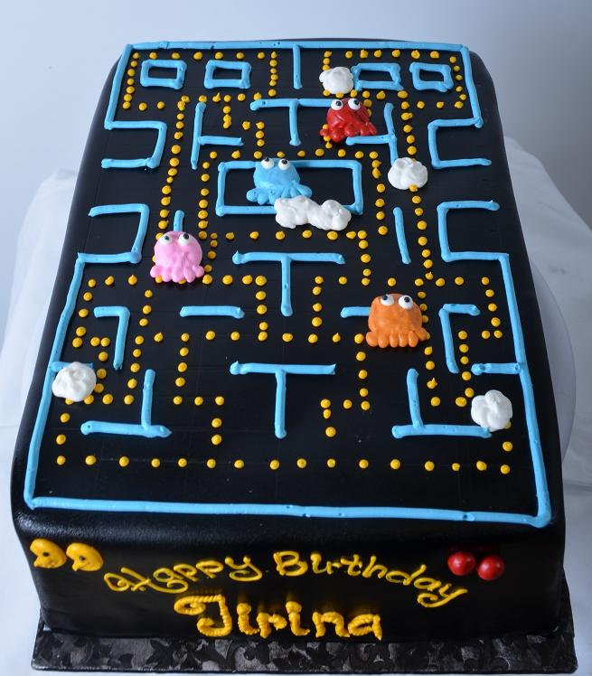 Excellent 1310 Pac Man Wedding Cakes Fresh Bakery Pastry Palace Las Funny Birthday Cards Online Alyptdamsfinfo