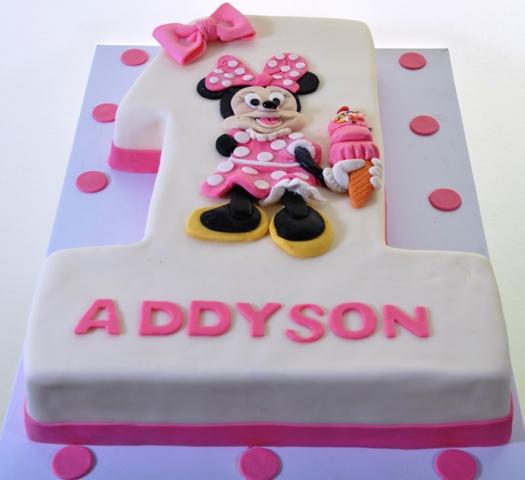 Pleasing 1331 One Minnie Birthday Wedding Cakes Fresh Bakery Pastry Personalised Birthday Cards Paralily Jamesorg