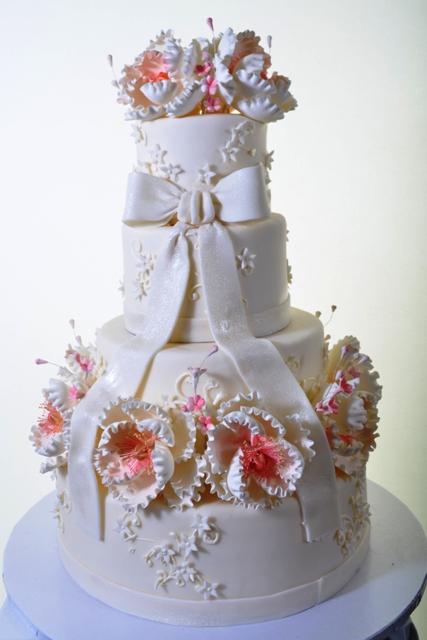 Pastry Palace Las Vegas Wedding Cake 1344-Fabulous Peonies