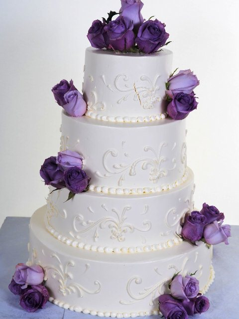 Pastry Palace Las Vegas - Cake 813 - White on White With Color